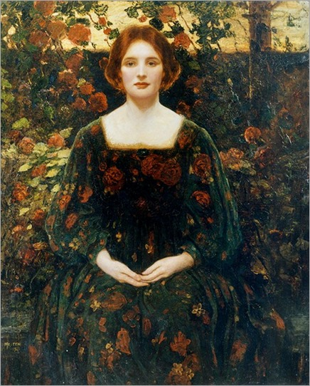 Womanhood - 1925- Thomas Edwin Mostyn (british painter)