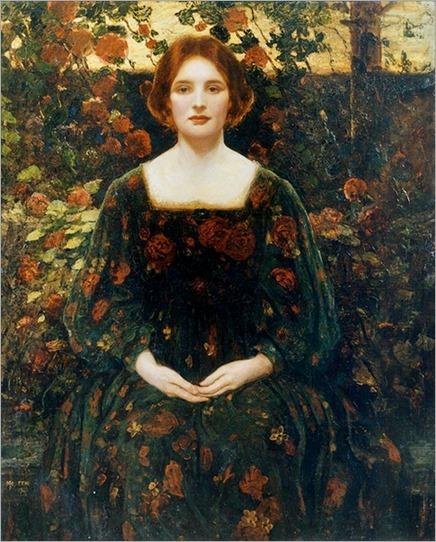 Womanhood - 1925- Thomas Edwin Mostyn (british painter)