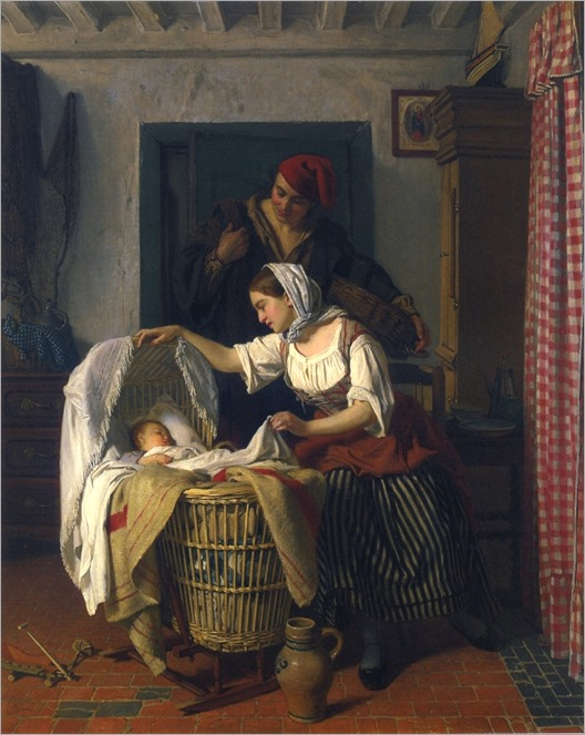A Peaceful Moment by Charles Baugniet