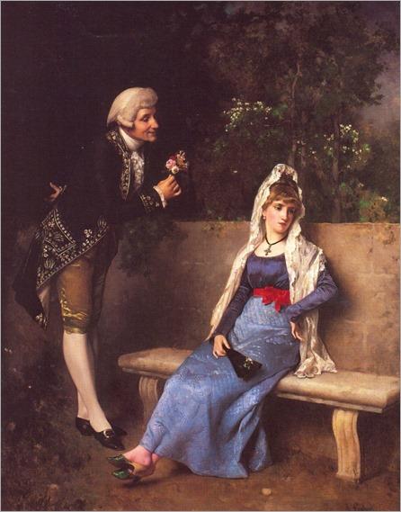 antonio-gisbert (Alcoy, Espanha, 1834- Paris, França, 1901)-una-escena-galante-