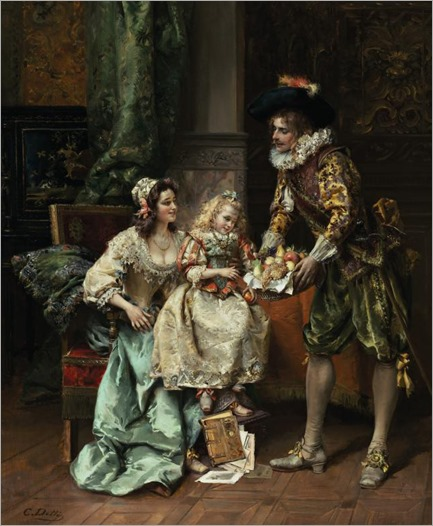Cesare-Auguste Detti (1847 - 1914) - She picked her favourite