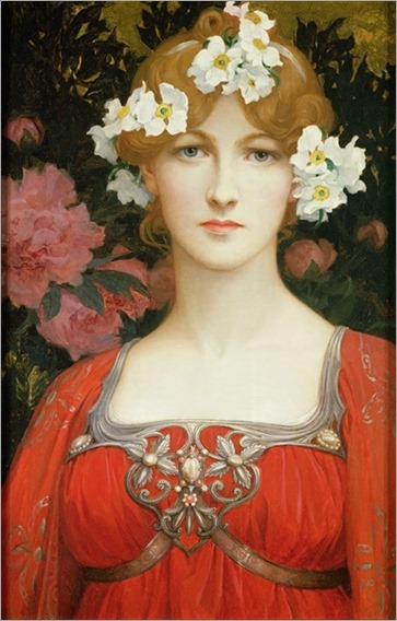 Elisabeth Sonrel(french painter) - The circlet of white flowers