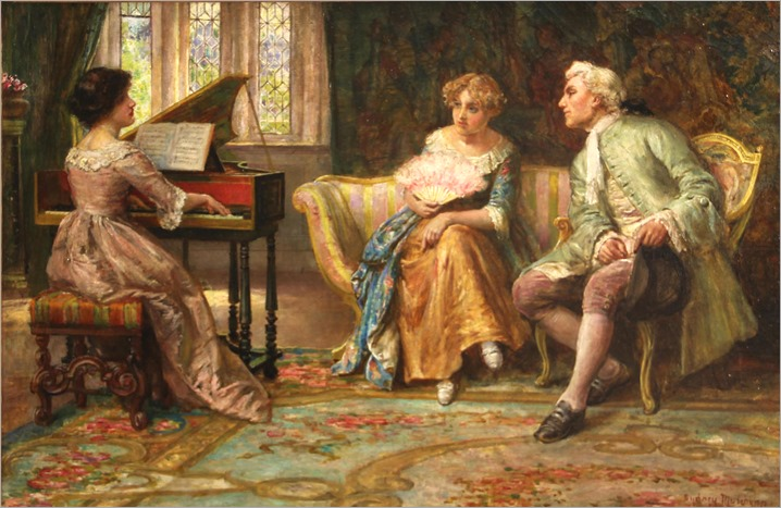 Francis Sydney Muschamp (british, 1851 - 1929) - A musical interlude