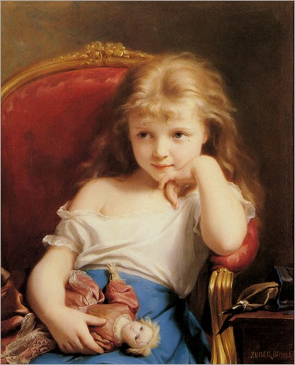 Fritz_Zuber-Buhler_Young_Girl_Holding_a_Doll