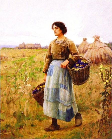 Girl with Grape Baskets_ Charles Sprague Pearce
