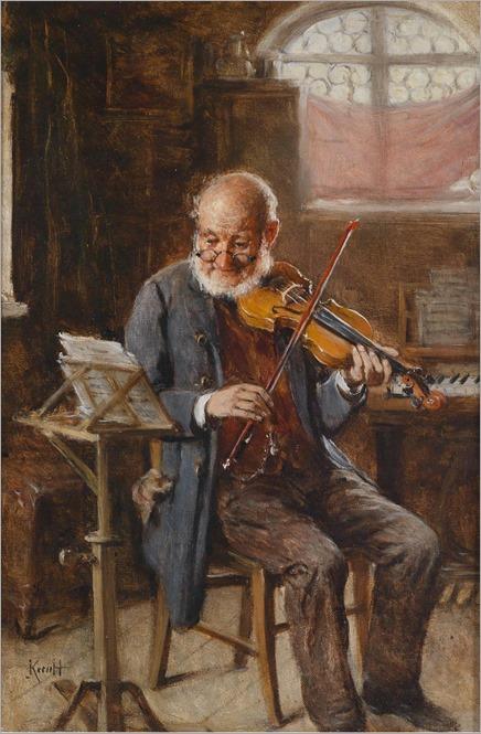 Hermann Kern (1838-1912) Der Geigenspieler