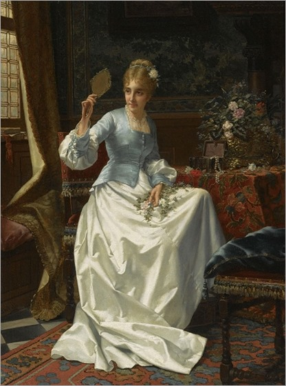 Jan Frederik Pieter Portielje (dutch, 1829-1908)- A beauty in an interior