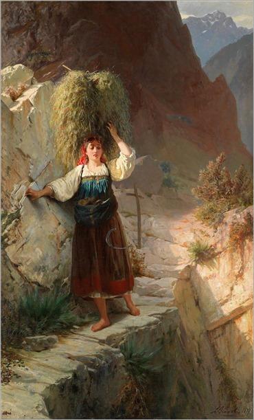 Luigi Bianchi  (1828–1914)  Der gefährliche Weg