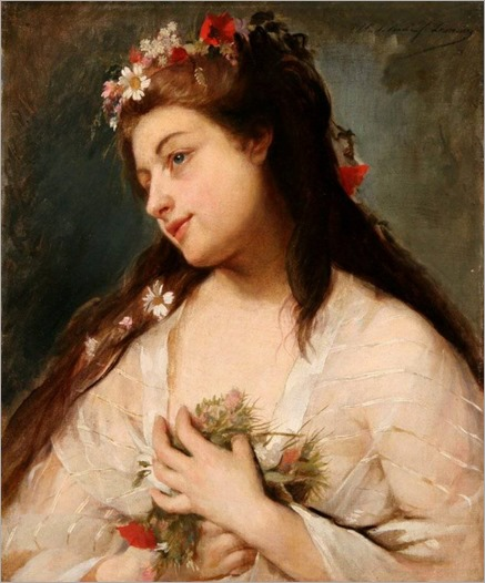 Madeleine Jeanne Lemaire (1845 - 1928) - A young beauty
