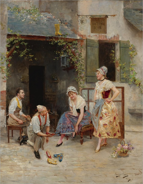 Mariano Alonso-Pérez Villagrosa (1857 - 1930) - La bottine d'or