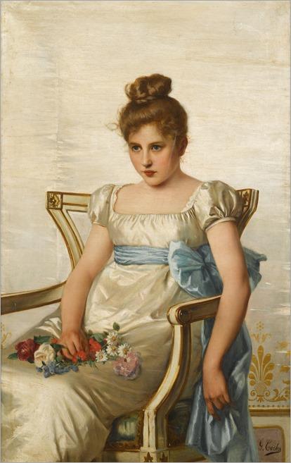 reverie by giovanni costa (italian, 1833-1893)