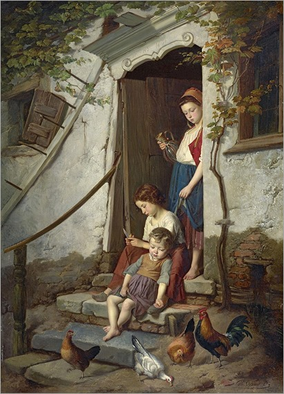 The farm children. 1867_Théodore Gérard