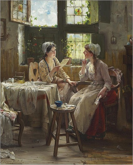 the good news_Edward Antoon Portielje (Belgian, 1861-1949)
