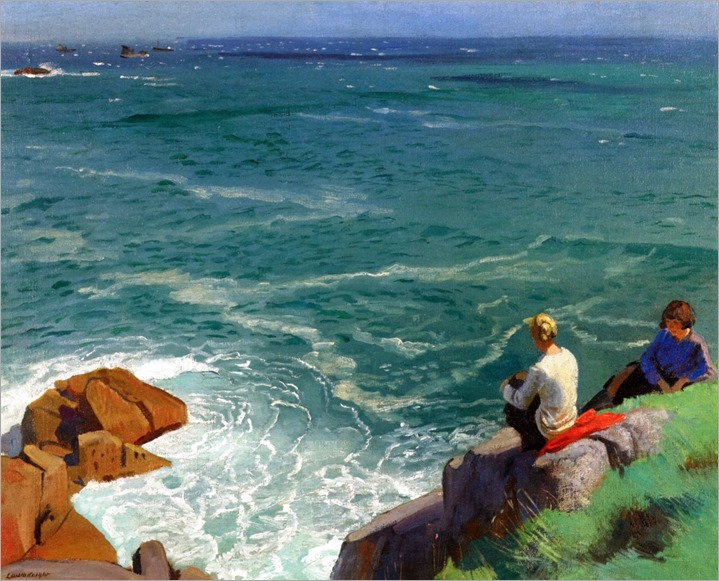 The Green Sea, Lamorna - Laura Knight (british painter)