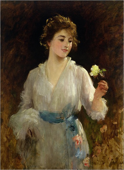 the-yellow-rose-sir-samuel-luke-fildes
