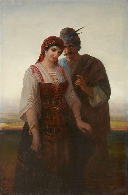 Theodor Köppen (1828-1903), A Romany Couple