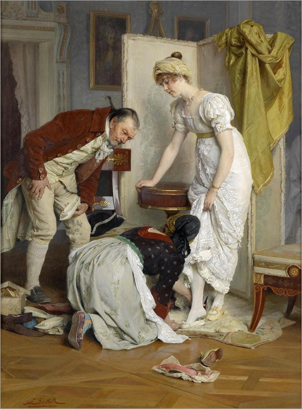 Trying On Shoes - Franz Xaver Simm