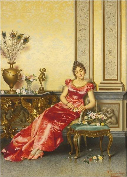 Vittorio Reggianini (1858-1938) A Basket of Flowers