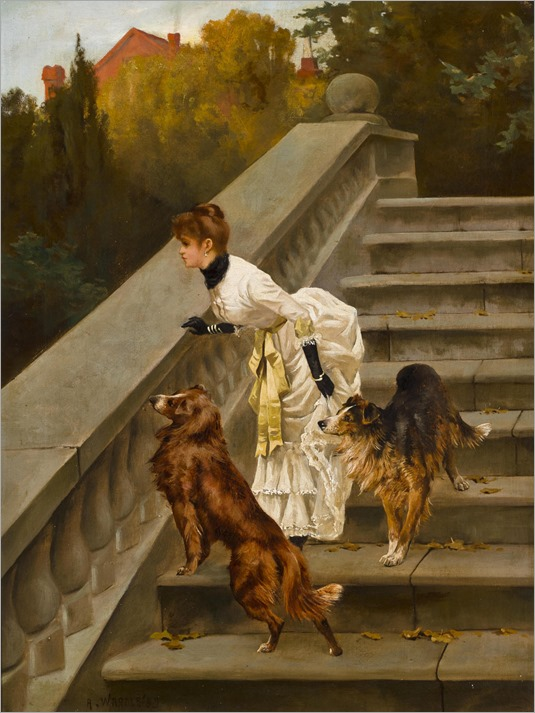 Arthur Wardle (1864 - 1949) - Waiting for Master, 1985