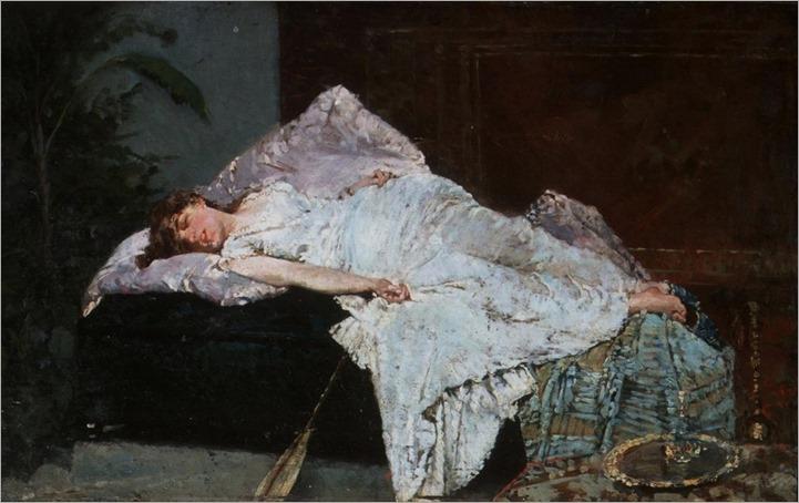 Francesco Paolo Netti (1832 - 1894) - La siesta, 1884