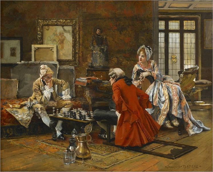 Francois-Flameng (1856-1923)_La-partie-dechecs