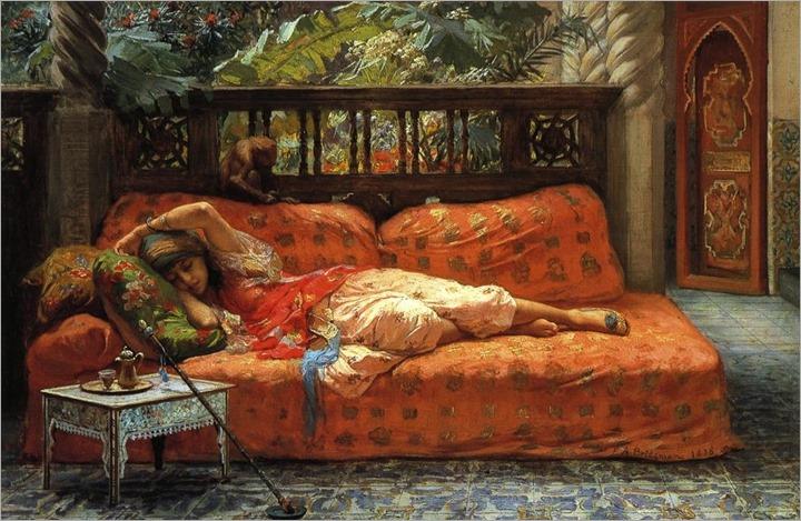 Frederick Arthur Bridgman (American Painter , 1847-1928) – The Siesta
