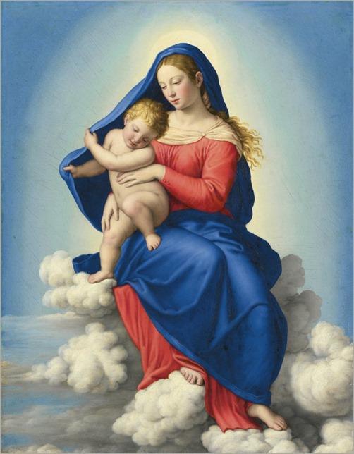 Giovanni Battista Salvi, called Sassoferato (1609-1689) Madonna and Child