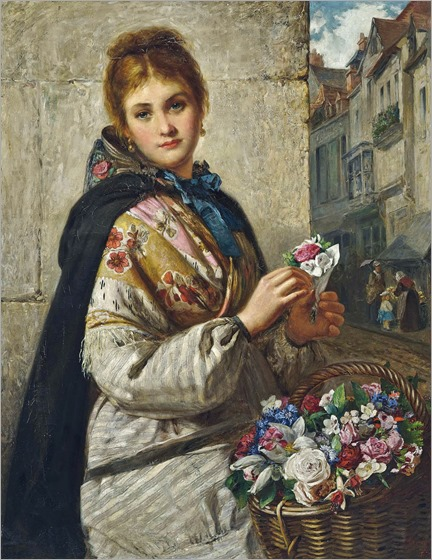 Haynes King (1831-1904)- The Flower Seller 1876