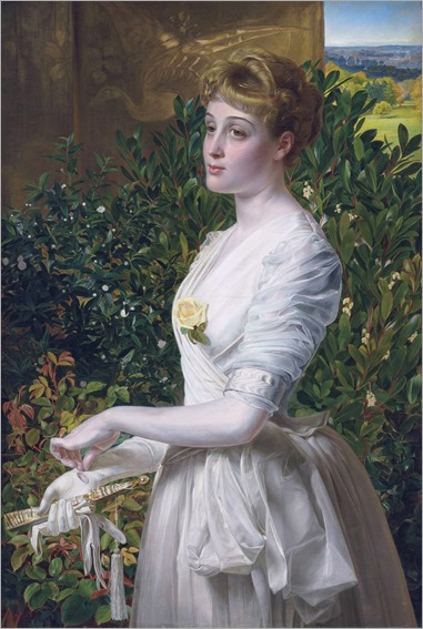 Julia Smith Caldwell by Frederick Sandys (english painter)