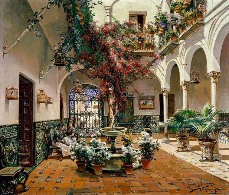 Manuel_García_Rodríguez_Inside_Courtyard,_Seville