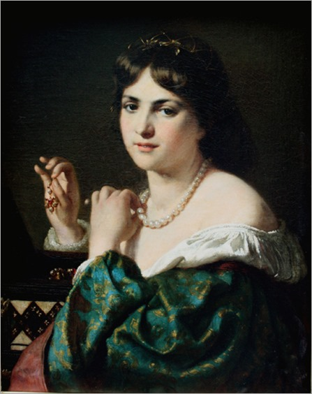 portrait_of_a_Lady_with_jewelry_Karl (Carl) Adolf Gugel (1820 - 1885)