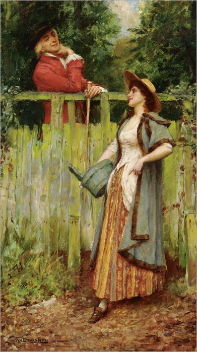 William Arthur Breakspeare (1855 - 1914) - Where are you going to, my pretty maid