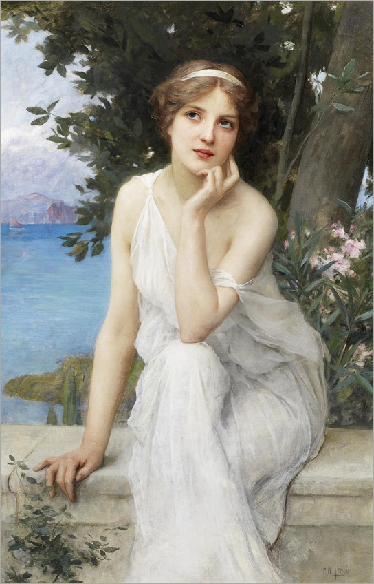 Charles Amable Lenoir (french, 1861 - 1940) - Reflective thoughts