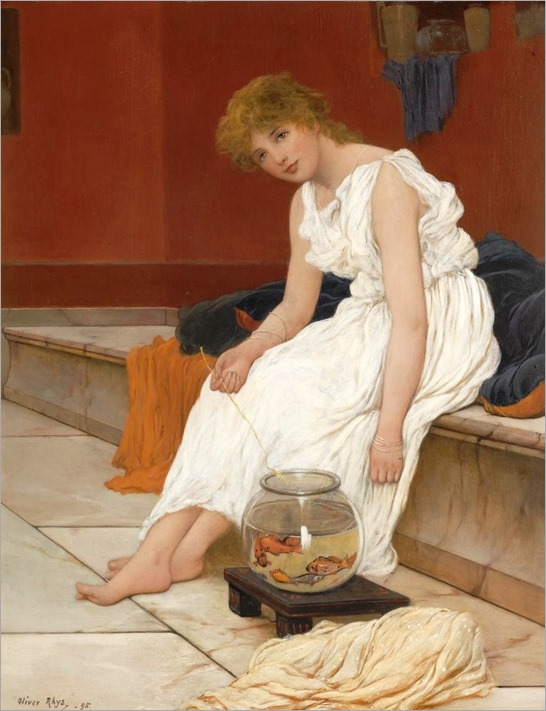 classical maiden with goldfish_Oliver Rhys