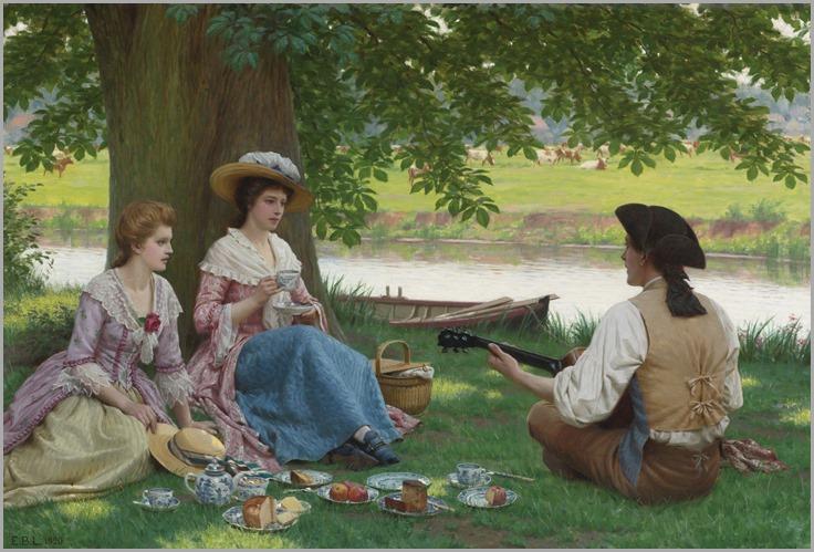 Edmund Blair Leighton_a picnic party