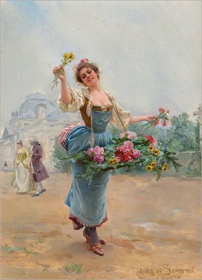 La Marchande des Fleurs, 1901-Louis Marie de Schryver