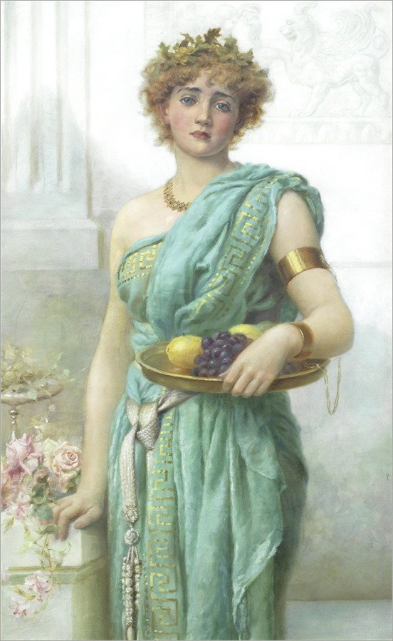 Norman Prescott-Davies (1862-1915) - classical maiden 1899
