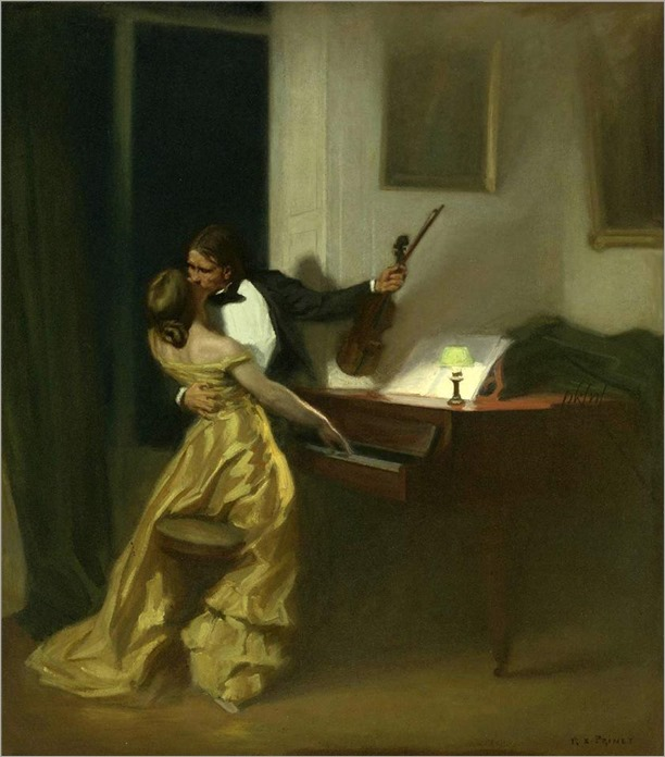 Sonata Kreutzer - Rene-Xavier Prinet (french painter)