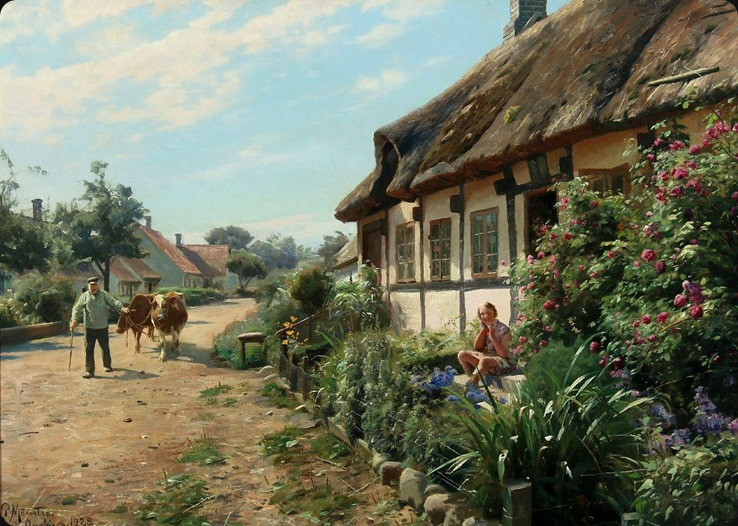 Village life on a nice summer day, Onsbjerg, Samso_Peder Mork Monsted