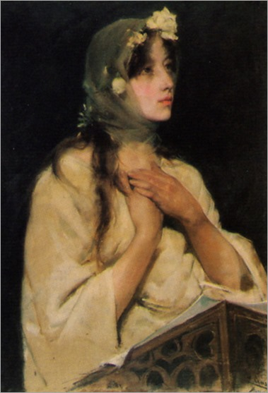 Young Woman - Fernando Cabrera Canto (spanish painter)