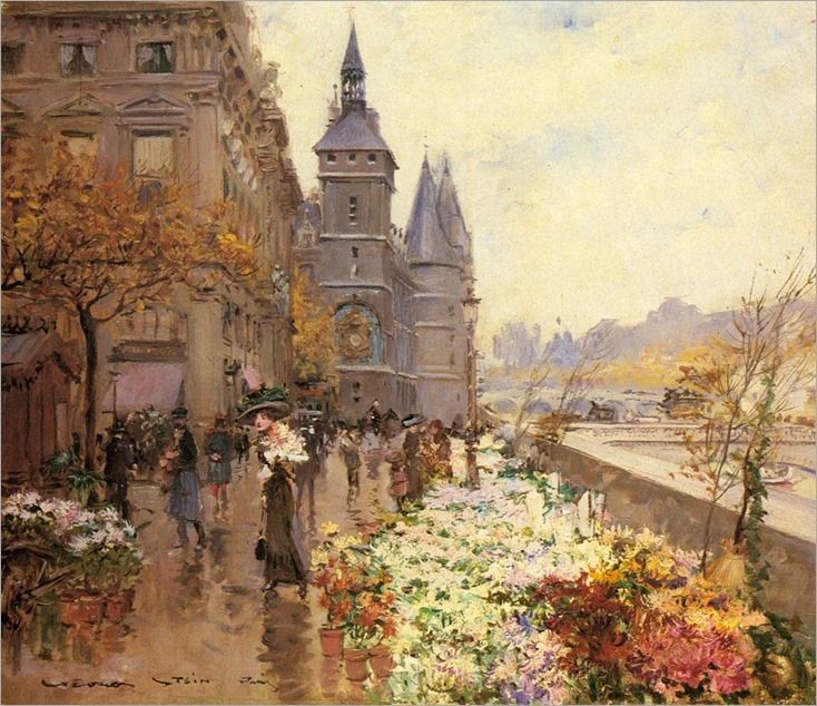 A-Flower-Market-Along-the-Seine_Georges Stein