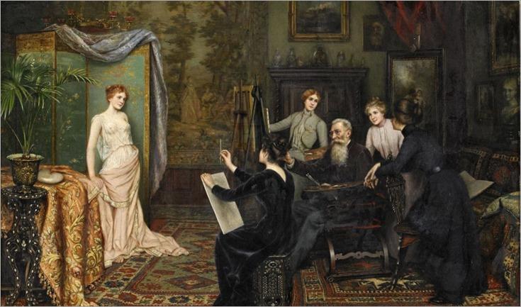 a painting school_Carl Johann Spielter - 1901