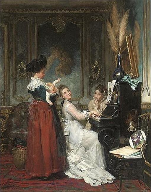 Adolphe Weisz (French, 1838-1900)-effet de musique
