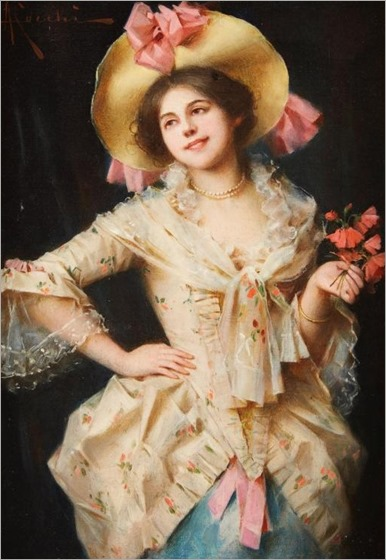 ADRIANO CECCHI, (ITALIAN 1850-1936), ELEGANT LADY