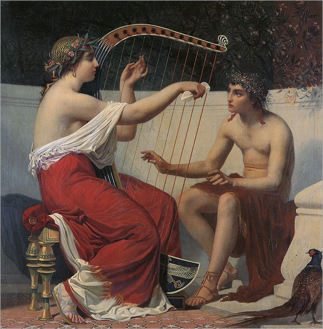 Alexandre-Auguste_Hirsch_-_Calliope_Teaching_Orpheus,_1865