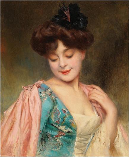 Alexis Vollon (1865-1945) A Coquette Lady