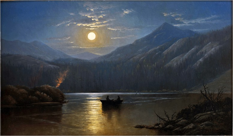 Alfred Edward Lambourne - Moonlight---Silver Lake, Cottonwood Canyon 1880