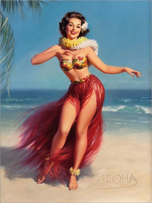 aloha-WILLIAM MEDCALF (American, 20th Century)