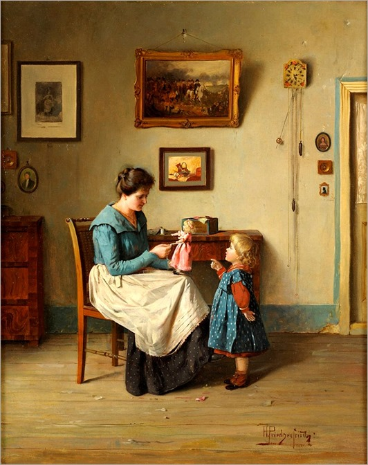 Alois Heinrich Priechenfried (1867-1953) The small puppe mum