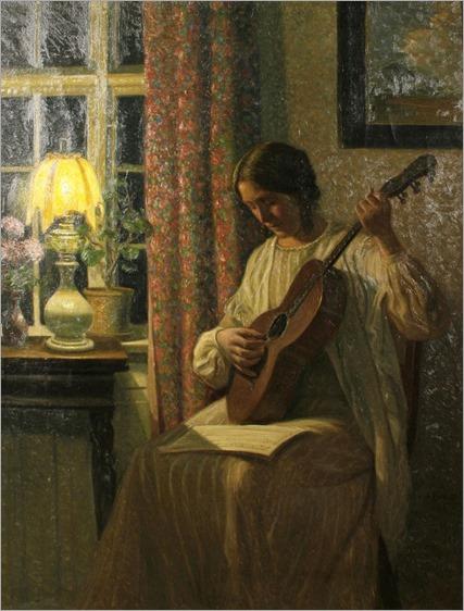 An evening tune (1914). Karl Harald Alfred Broge (Danish, 1870-1955)